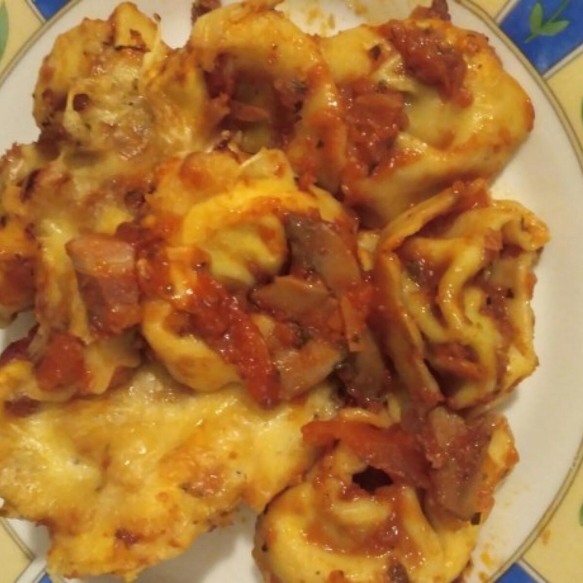 Spenótos-ricottás tortellini sütőben