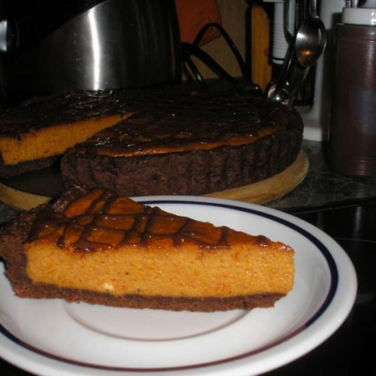 Ezen a képen: Csokoládés sütőtökös pite