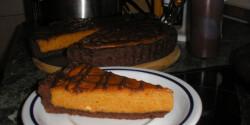 Csokoládés sütőtökös pite