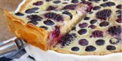 Szedres-áfonyás pite vaníliakrémmel