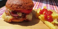 Gluténmentes csirkemelles hamburger