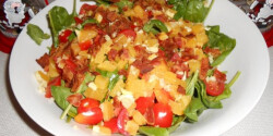 Narancsos bébispenót saláta