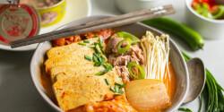 Kimchi-ccsige - koreai egytálétel tofuval és tonhallal