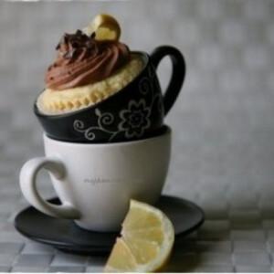 Citromos-csokikrémes cupcake