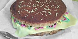 Hamburger torta mézes puszedliból