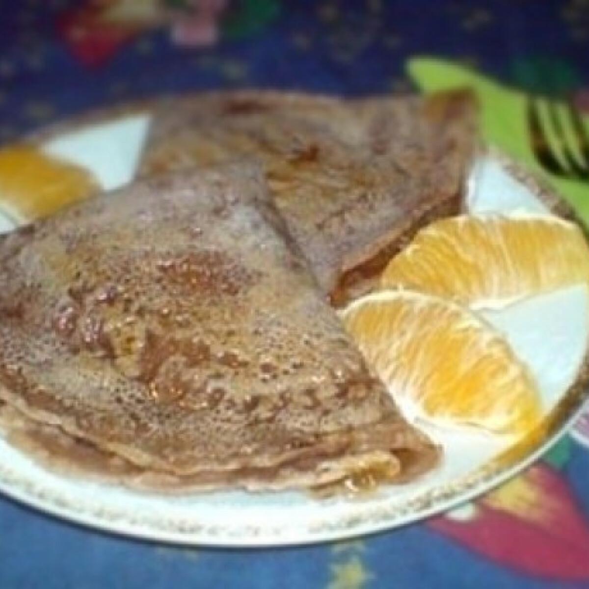 Ezen a képen: Kakaós palacsinta 2. - házi narancsdzemmel