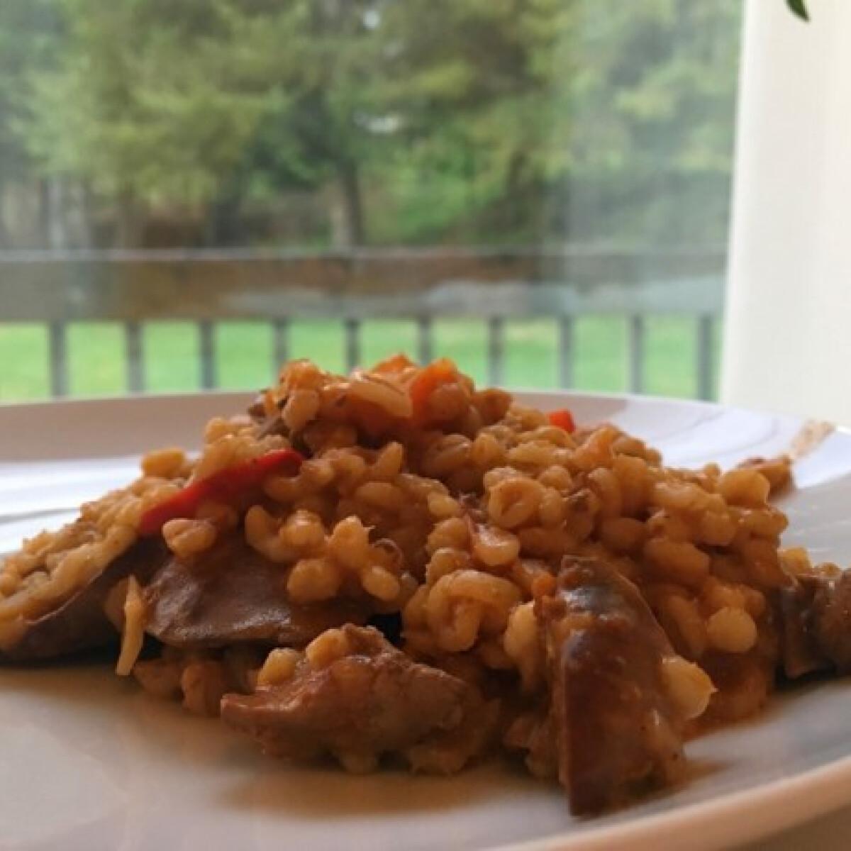 Ezen a képen: Májas gersli rizses hús mintájára