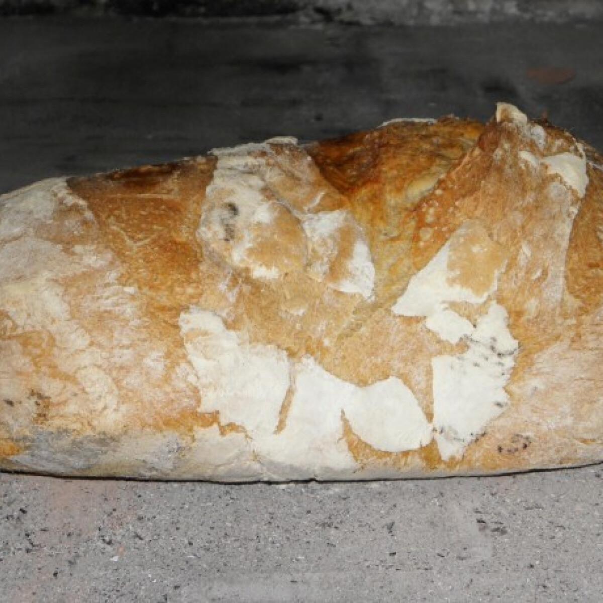 Ezen a képen: Kemencében sült rozsos kenyér