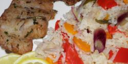 Vajon sült tengeri hal zöldséges rizzsel