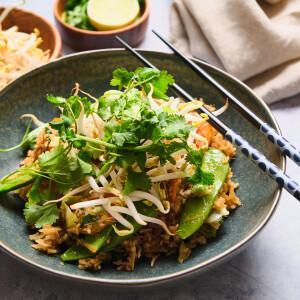 Ropogós zöldséges pirított rizs