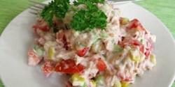 Tonhalsaláta 7. - majonézes