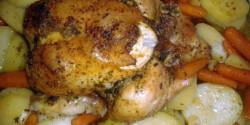 Sütőzacskóban sült csirke zöldségekkel