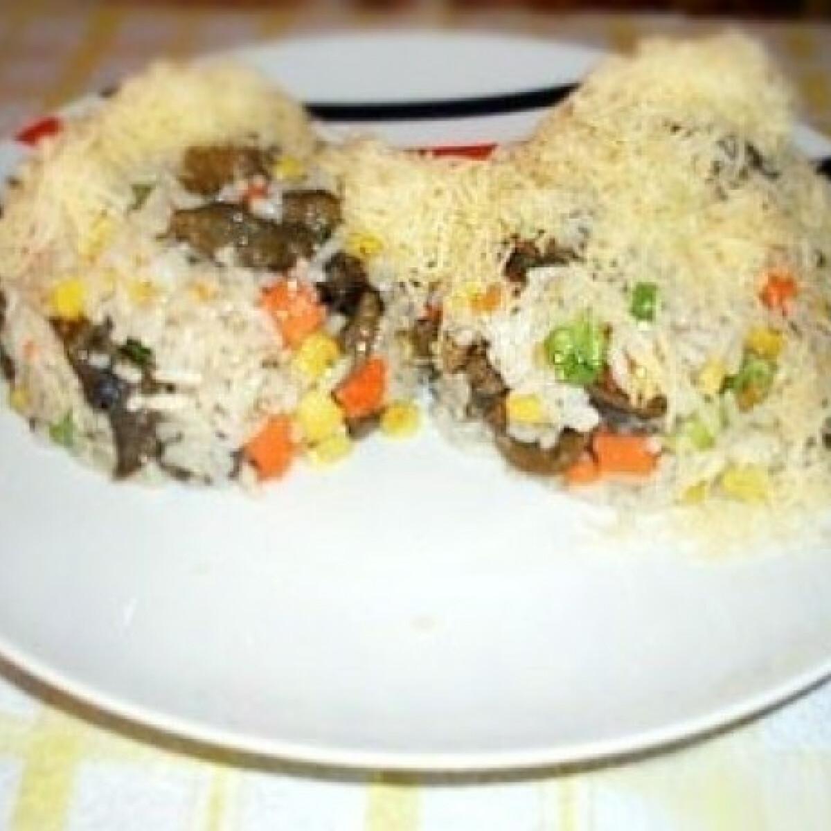 Ezen a képen: Éticsigás-zöldséges rizs