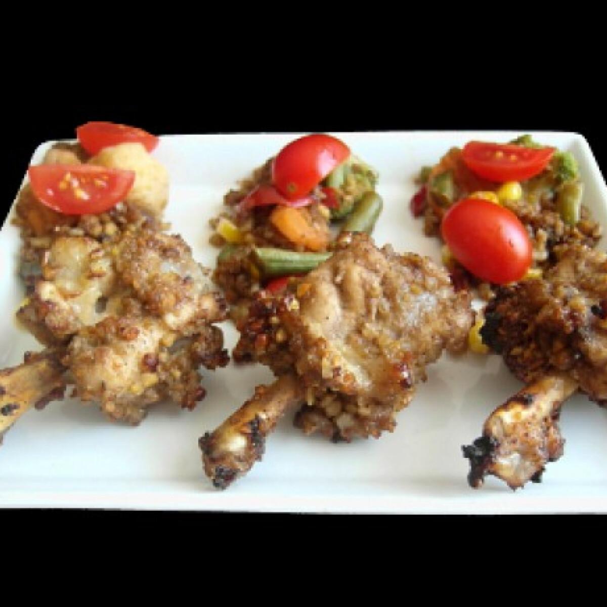 Ezen a képen: Magvas-balzsamos csirkeszárnyak