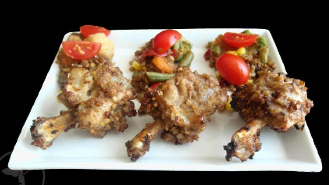 Magvas-balzsamos csirkeszárnyak