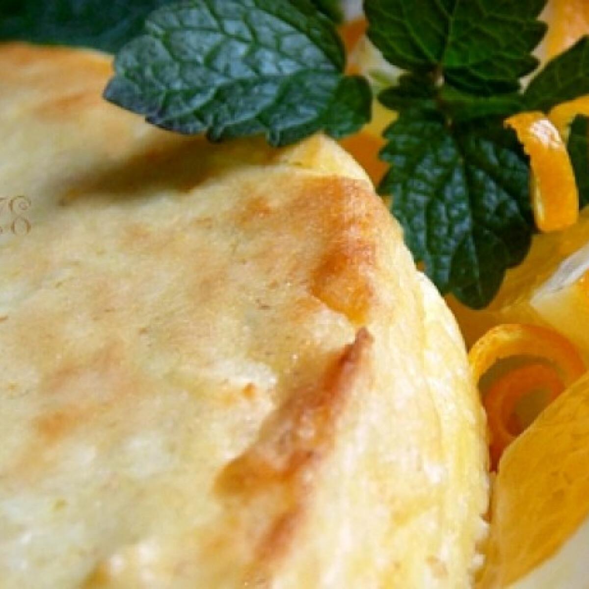 Citrusos sajttorta túróval