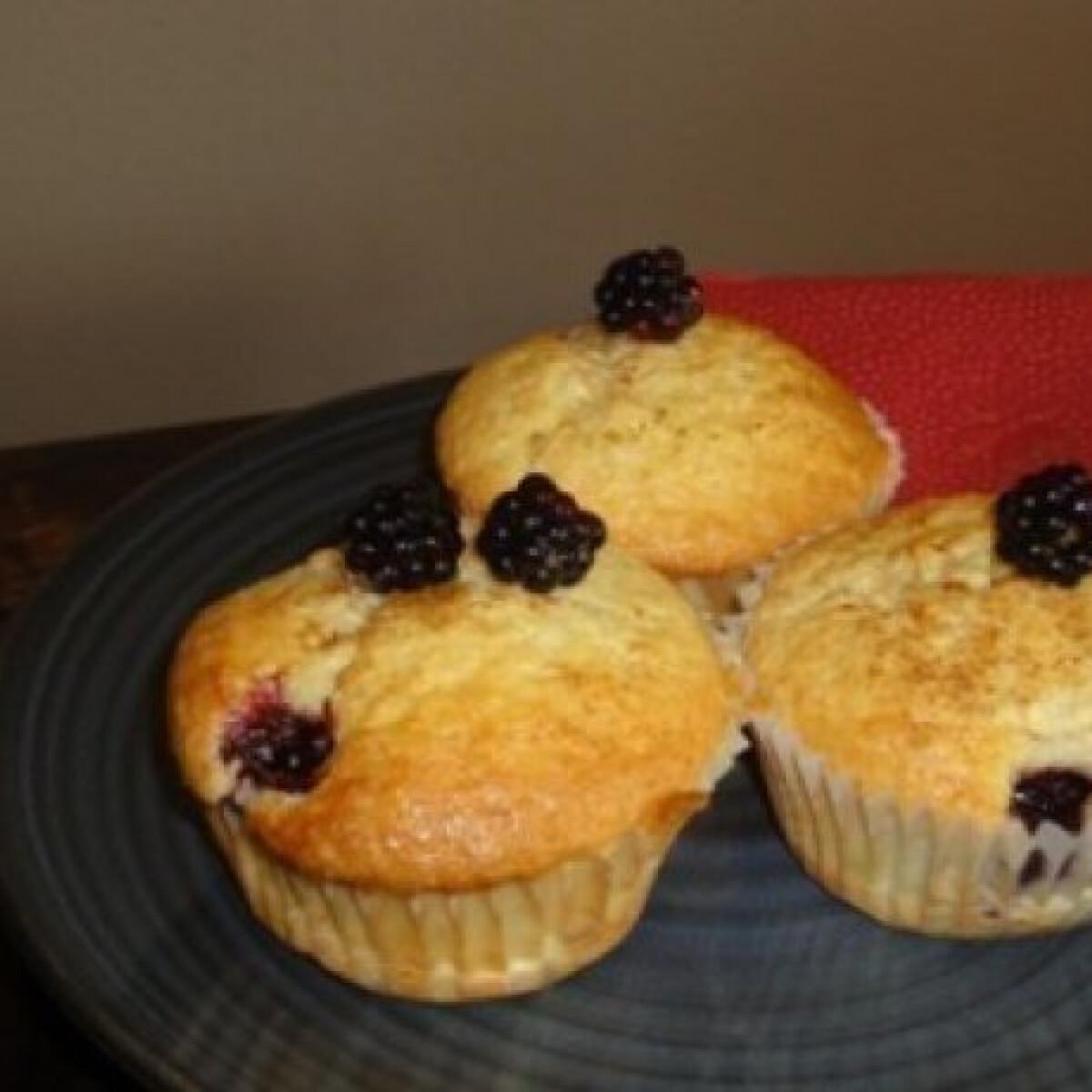 Ezen a képen: Szedres bedobálós muffin