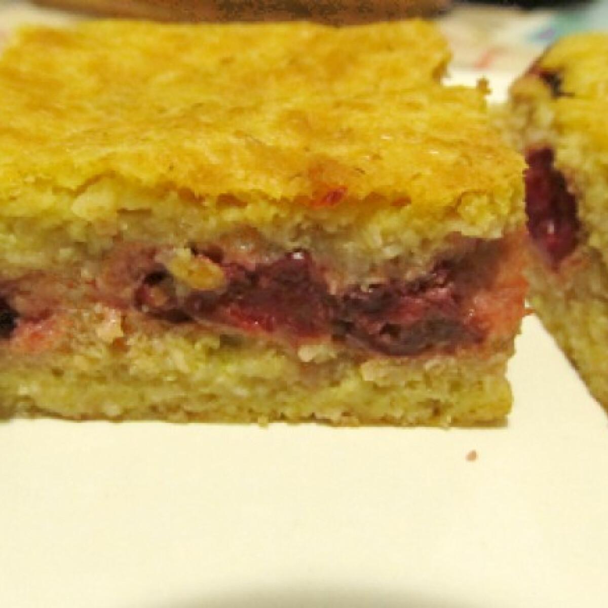 Meggyes süti - liszt és cukor nélkül