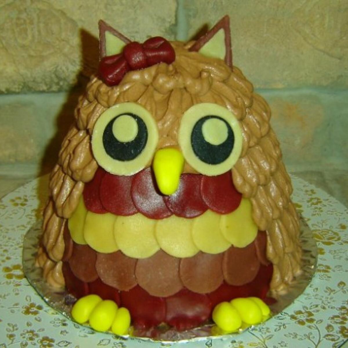 Ezen a képen: Bagoly torta Györgyi konyhájából