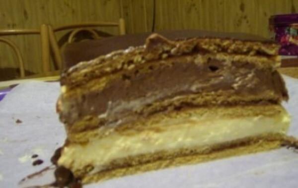 Mézes lap csokis-vaníliás krémmel