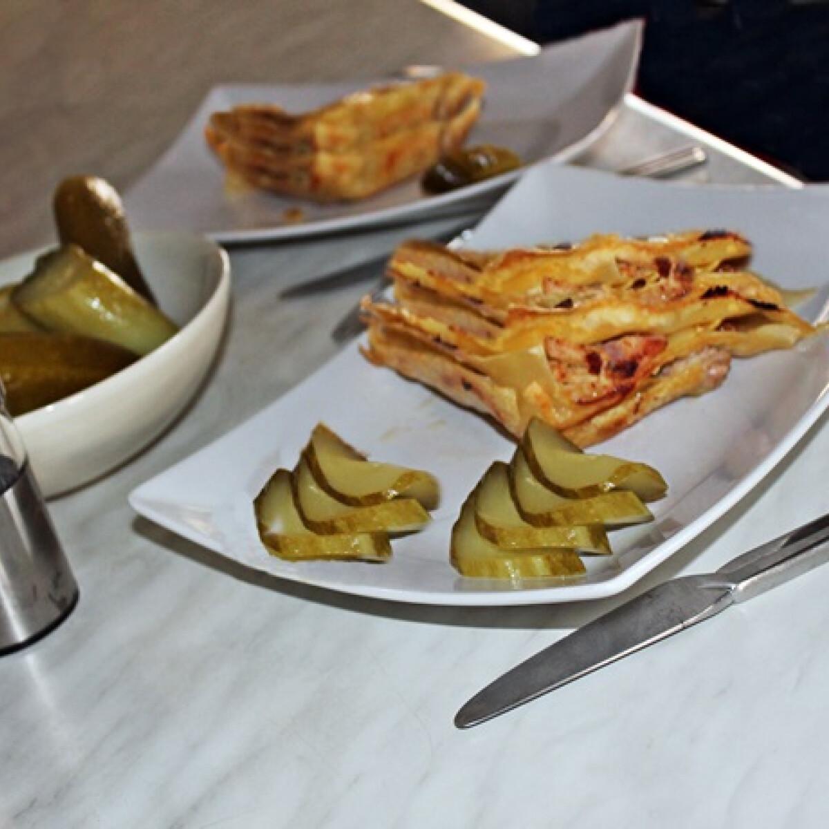 Ezen a képen: Csirkés lasagne házi sajtkrémmel
