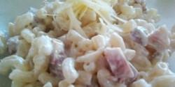 Sonkás-sajtkrémes tészta gyorsan