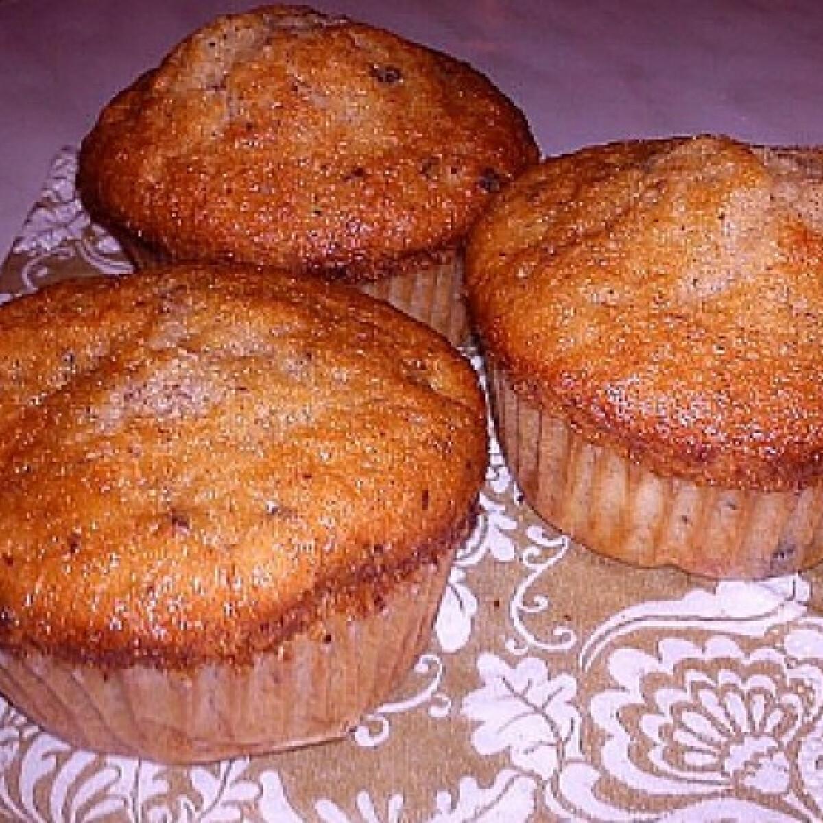 Ezen a képen: Banándarabos-csokis muffin
