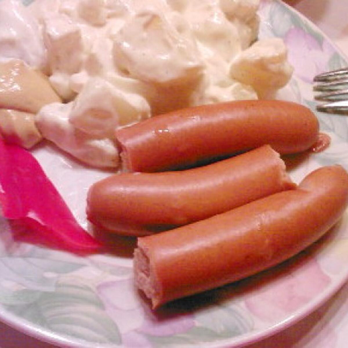Ezen a képen: Lengyel krumplisaláta virslivel