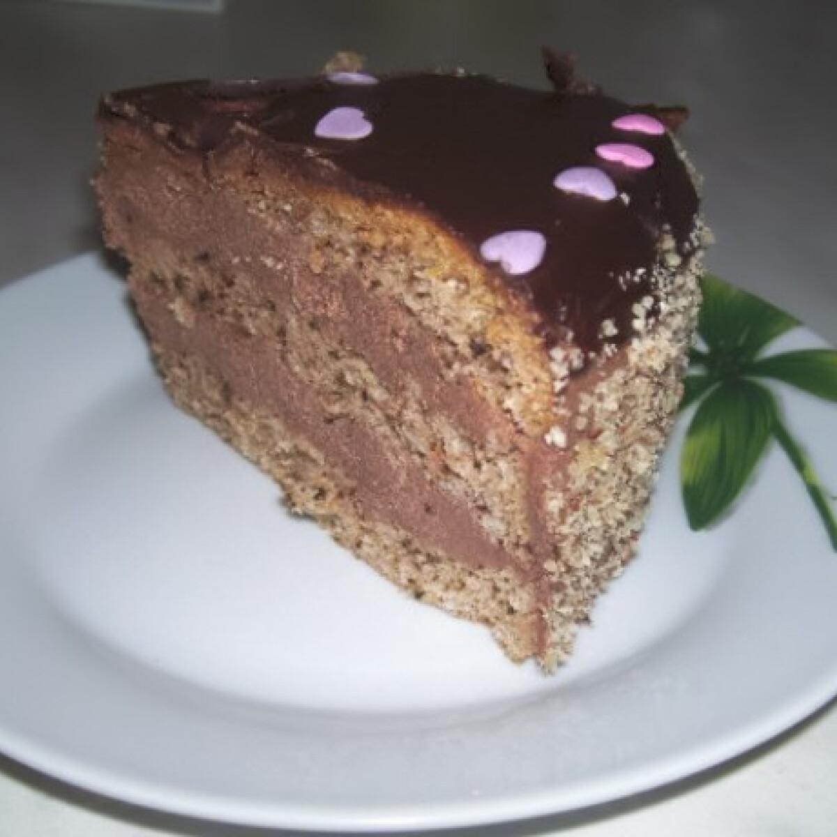 Ezen a képen: Csokikrémes torta vera konyhájából