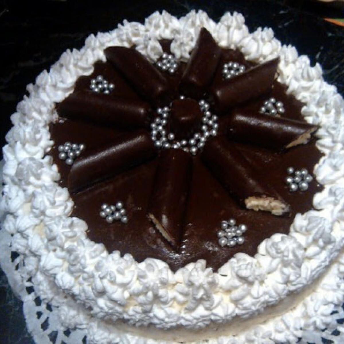 Ezen a képen: Túró rudi torta kicsit másképp