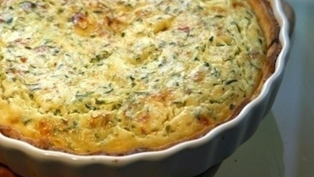 Cukkinis quiché (cukkinis francia pite)