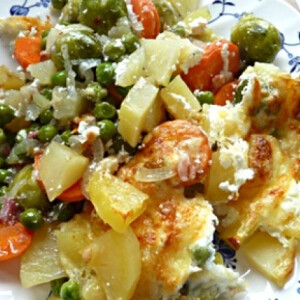 Rakott zöldség szalonnával