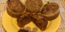 Gabonapelyhes brownie muffin