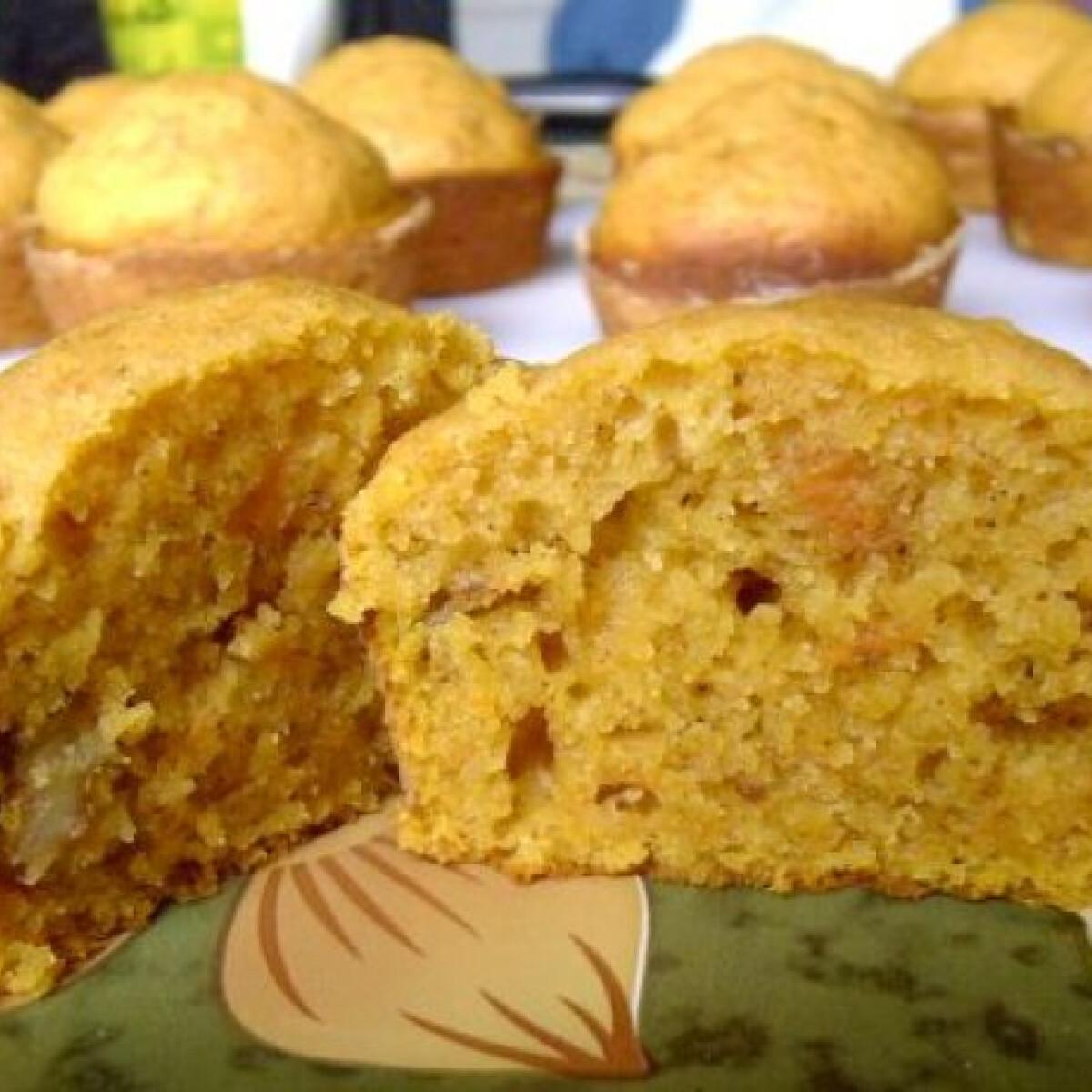 Ezen a képen: Sütőtökös-diós muffin