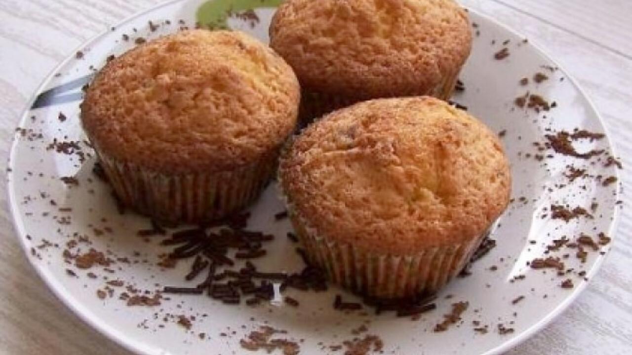 Vaníliás muffin csokidarabokkal