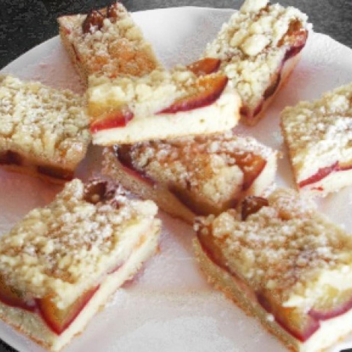 Szilvás morzsa süti