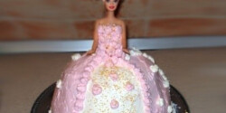 Barbie torta 2. -epres krémmel