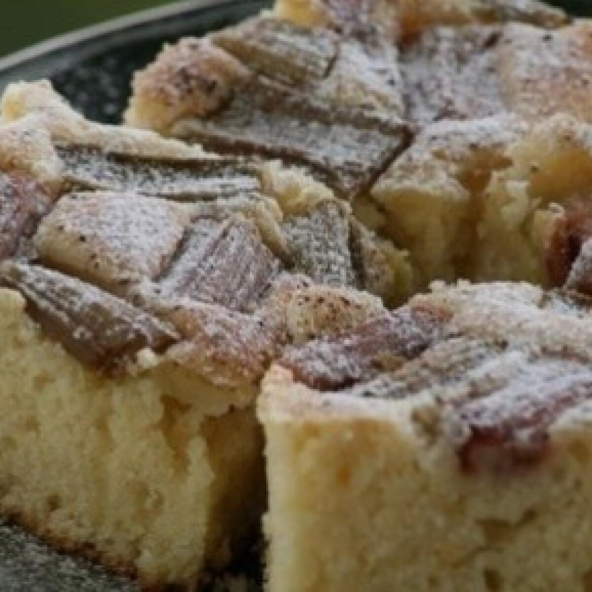 Ezen a képen: Rebarbarás kevert süti