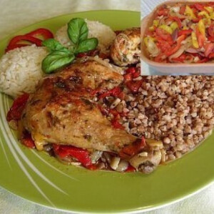 Azerbajdzsán csirke római tálban
