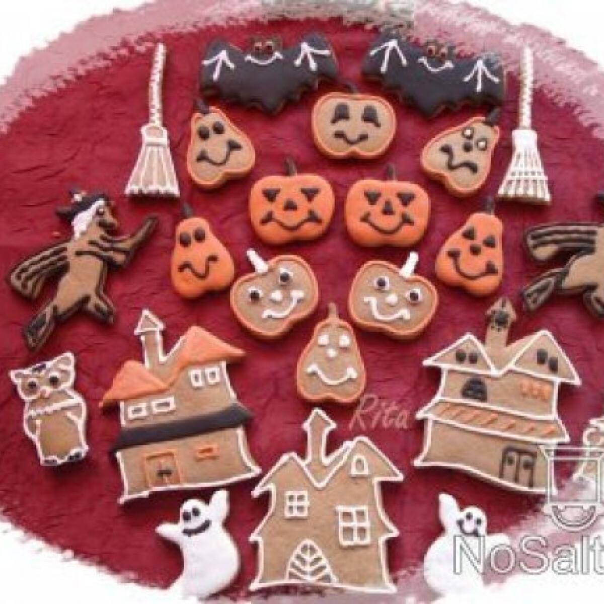 Ezen a képen: Mézeskalácsok halloween-re