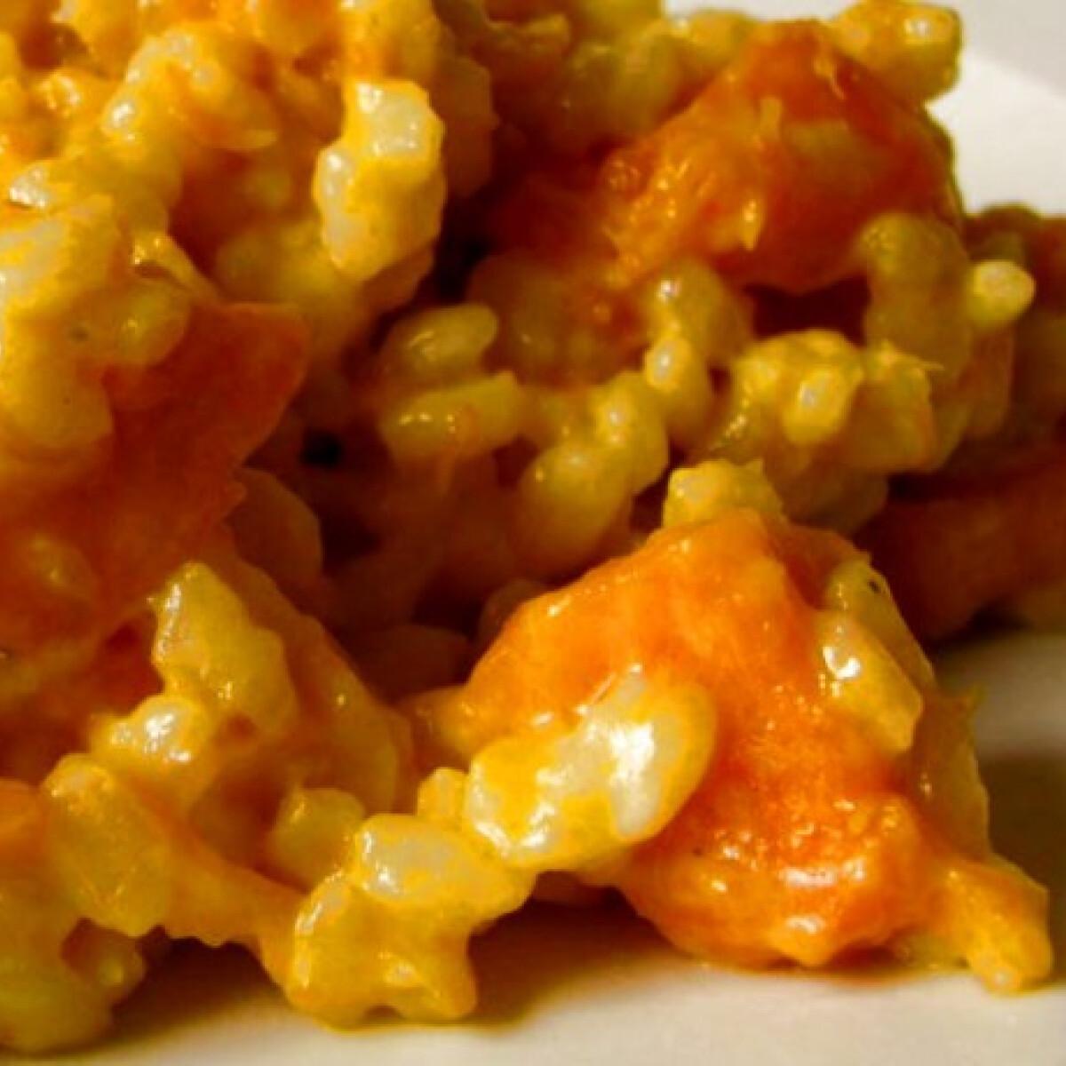 Ezen a képen: Sütőtökös-mascarponés risotto