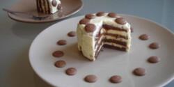 Karamellás, mini fehércsokoládé torta