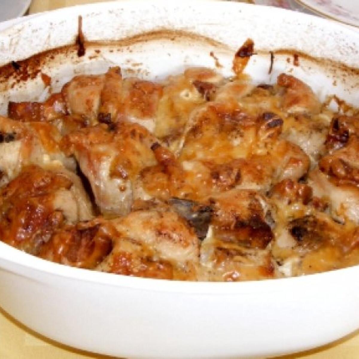 Fokhagymás-paradicsomos csirkemell