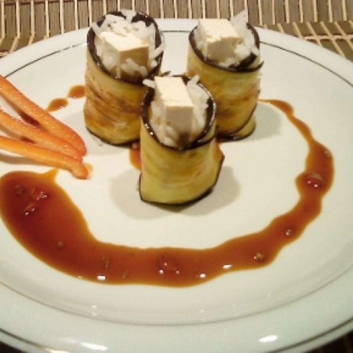 Padlizsán sushi