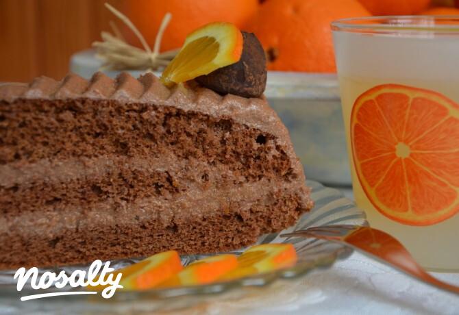 Ezen a képen: Narancsos csokitorta egyszerűen