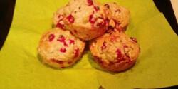 Ribizlis-zabpelyhes muffin