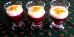 Tőzegáfonya-zselé narancsos joghurttal