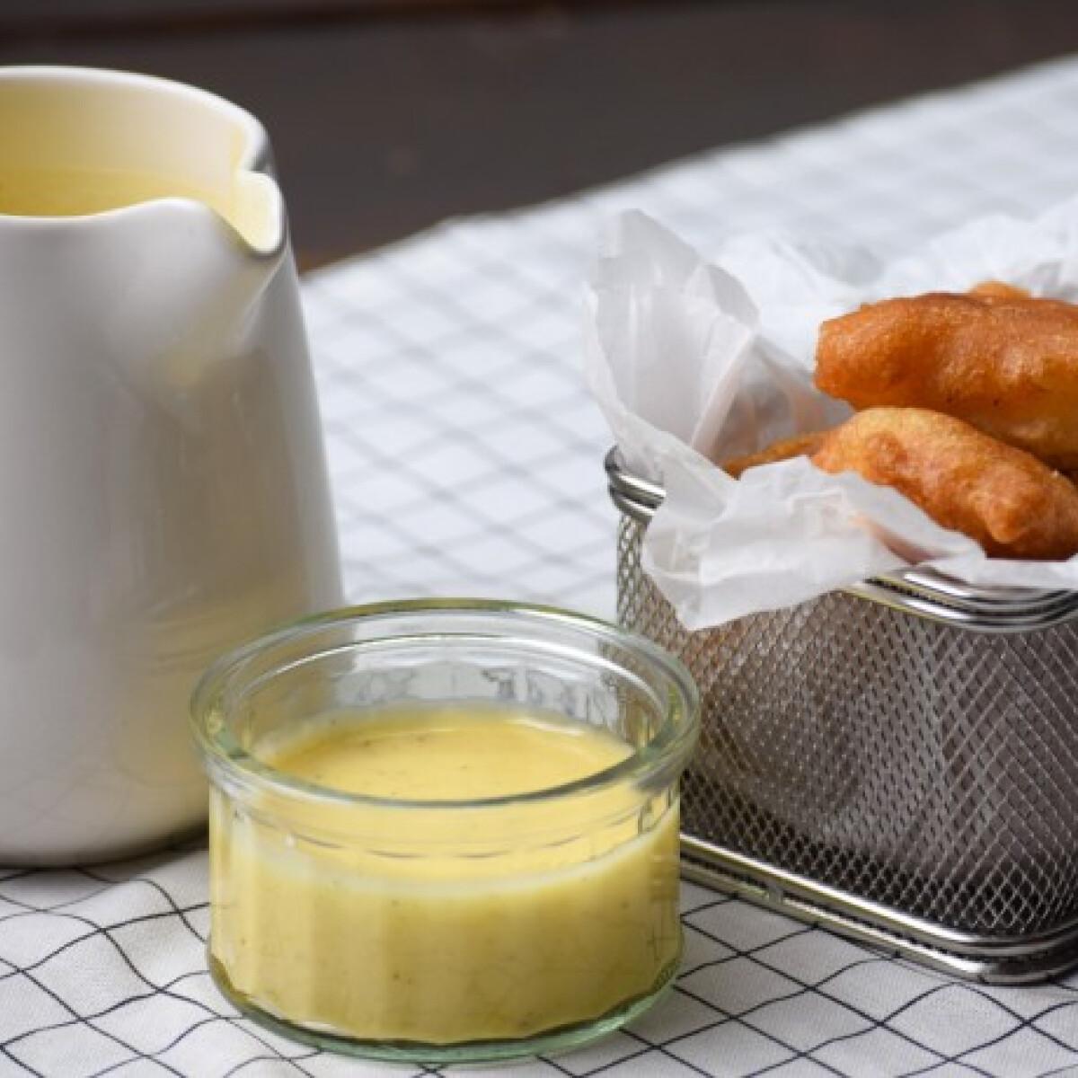 Ezen a képen: Sörtésztás halfalatkák uborkás majonézzel