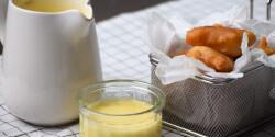 Sörtésztás halfalatkák uborkás majonézzel
