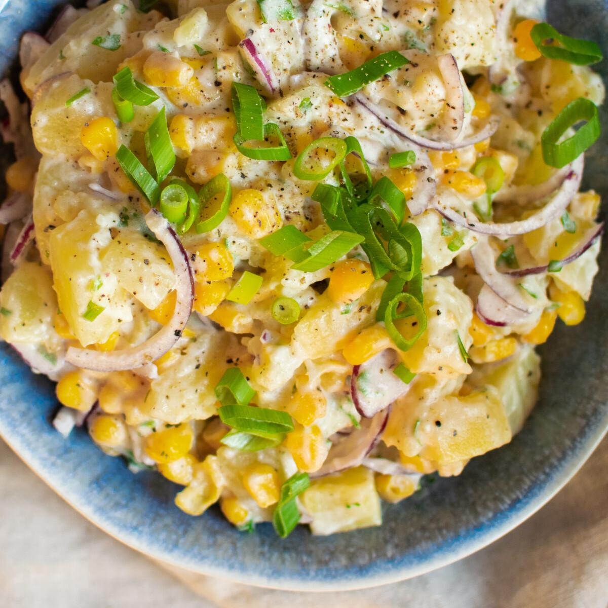 Veganézes krumplisaláta